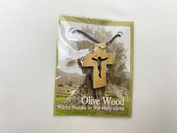 Olive Wood Necklace Cross