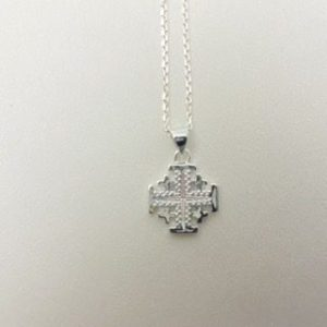 Sterling Silver Jerusalem Cross Necklace