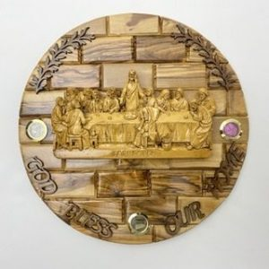 3D Round Plaque Of Last Supper
