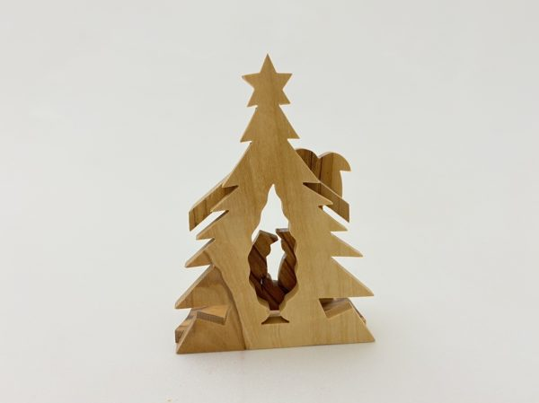 Ornament Nativity With Christmas Tree