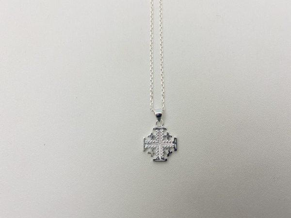 Sterling Silver Jerusalem Cross Necklace