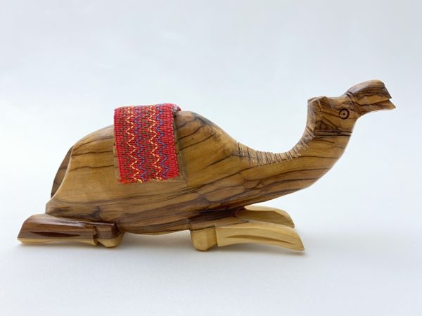 Hand carved Camel from olive wood