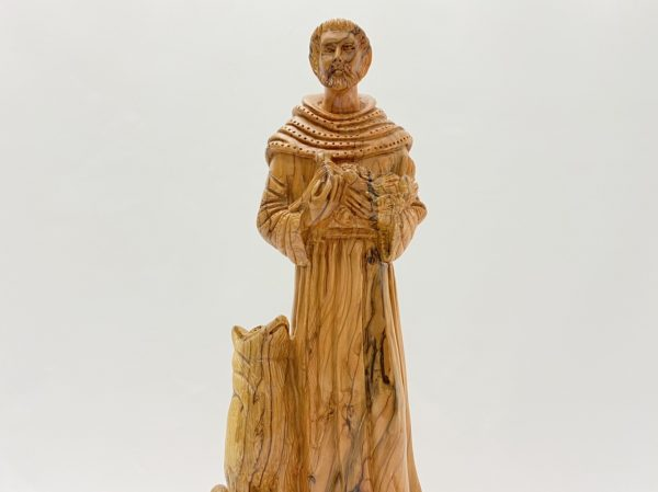 St.Francis of Assisi Olive Wood