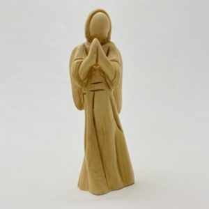 Modern angel made from Olive wood