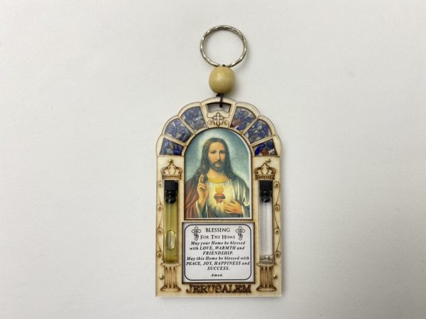 Wall Plaque Home Blessing with The Sacred Heart Of Jesus