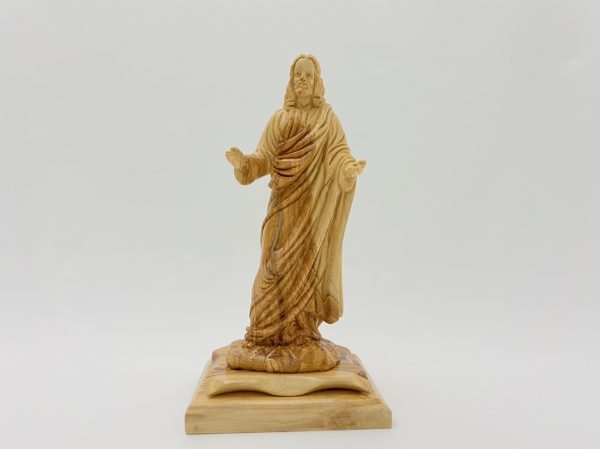 Open Arms Jesus Hand Crafted From Olive Wood