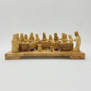 Last Supper Hand Crafted from Olive Wood