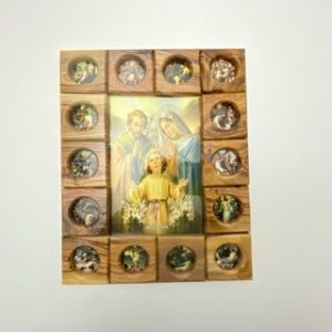 14 Stations of The Cross Plaque with Holy Family