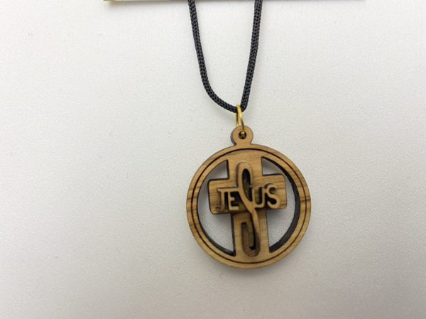 Pendant Jesus Necklace Olive Wood