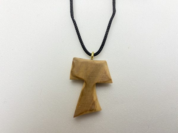 Olive Wood Tau Necklace Cross