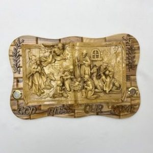 3D Nativity Wall Plaque