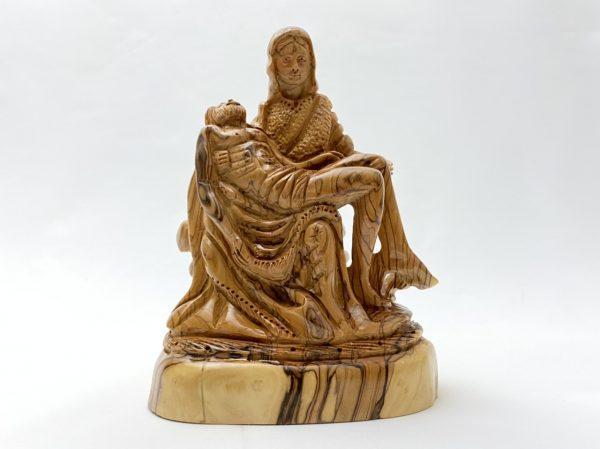 Olive Wood Pieta Statue
