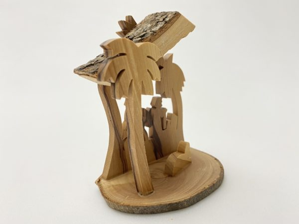Small Nativity with Star and Palm tree