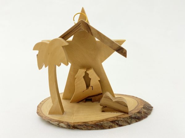 Christmas Nativity With Star Ornament