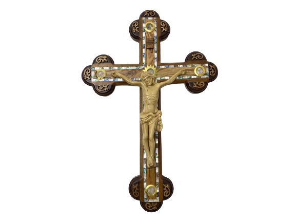 Large Crucifixion of Christ Cross Wall Décor