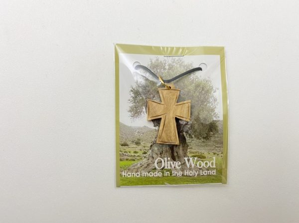Olive Wood Pendant Cross
