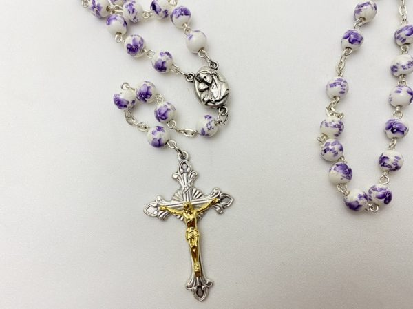 Purple Flower Rosary